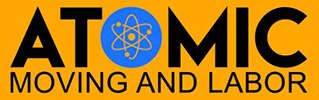 Atomic Moving and Labor Logo