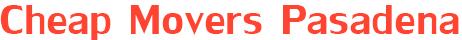 Cheap Pasadena Movers Logo