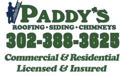 Paddy's Roofing, Siding, and Chimneys Logo