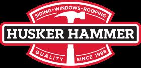 Husker Hammer Siding, Windows & Roofing Logo