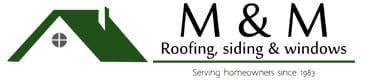 M & M Roofing Siding & Windows Logo