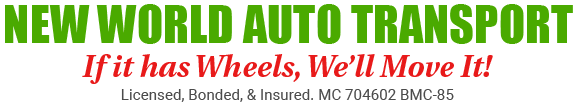 New World Auto Transport Ship Car Move Car Logo