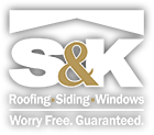 S&K Roofing, Siding and Windows Logo
